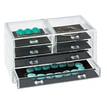 Honey Can Do Stephanie Jewelry Chest, Clear ( STO-06381 )