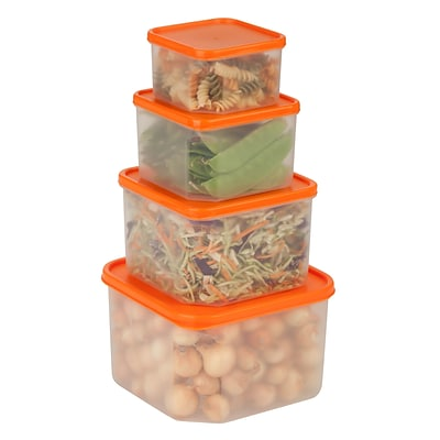 Honey Can Do 8 piece food storage set, clear ( KCH-03833 )