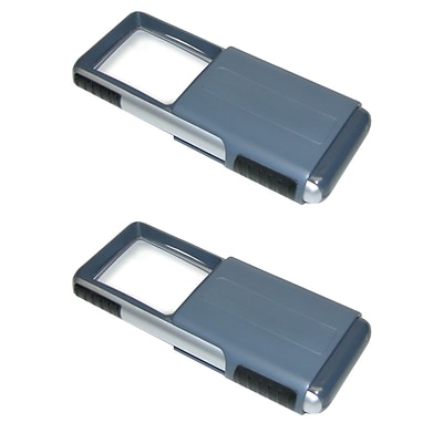 2 Pack Carson Po-25 Minibrite 3x Slide-out Led Magnifier