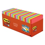 Post-it® Super Sticky Notes Cabinet Pack, 3 x 3, Marrakesh Collection, 70 Sheets/Pad, 24 Pads/Pack