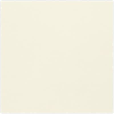 LUX 6 3/4 x 6 3/4 Square Flat Card  50/Pack, Natural (634SQFLT-N-50)