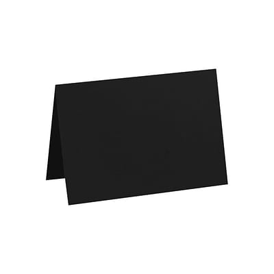 LUX A6 Folded Card (4 5/8 x 6 1/4) 500/Pack, Midnight Black (EX5030-56-500)
