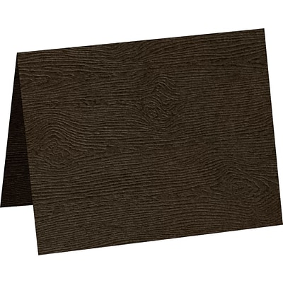 LUX A1 Folded Card 1000/Pack, Teak Woodgrain (5010-C-S03-1000)