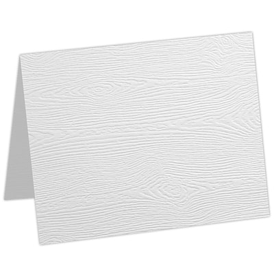 LUX A9 Folded Card 1000/Pack, White Birch Woodgrain (5060-C-S02-1000)