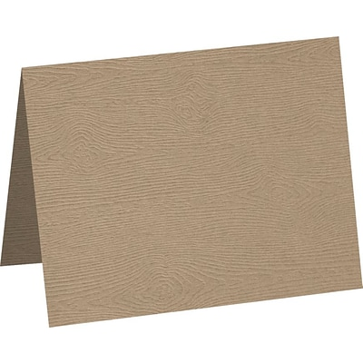 LUX A2 Folded Card 1000/Pack, Oak Woodgrain (5020-C-S01-1000)