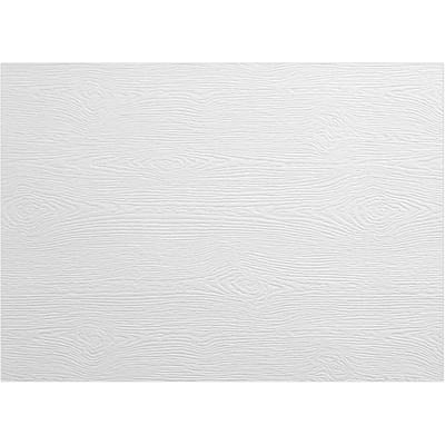 LUX A1 Flat Card 50/Pack, White Birch Woodgrain (4010-C-S02-50)