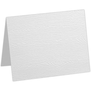 LUX A6 Folded Card 1000/Pack, White Birch Woodgrain (5030-C-S02-1000)