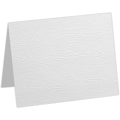 LUX A2 Folded Card 250/Pack, White Birch Woodgrain (5020-C-S02-250)