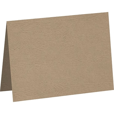 LUX A7 Folded Card 50/Pack, Oak Woodgrain (5040-C-S01-50)