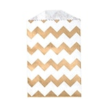 LUX Little Bitty Bag (2 3/4 x 4)  50/Pack, Gold Chevron (LBB-CHEVG-50)