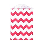 LUX Little Bitty Bag (2 3/4 x 4)  50/Pack, Red Chevron (LBB-CHEVR-50)