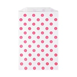 LUX Middy Bitty Bag (5 x 7 1/2)  50/Pack, Pink Polka Dot (MBB-PDP-50)