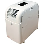 SoleusAir 8,000 BTU 115V Portable Air Conditioner with LCD Remote Control in White