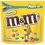 M&MS Peanut Chocolate Candy, 38 oz Party Size Resealable Bag (MMM55116)