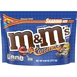 M&MS Caramel Chocolate Candy Sharing Size Candy Bag, 9.6 oz (MMM50887)