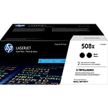HP 508X Black Toner Cartridge, High Yield, 2/Pack (CF360XD)