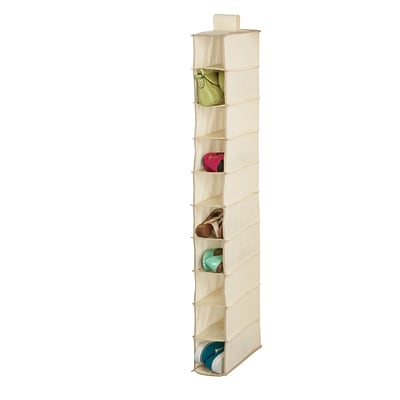 Honey Can Do 10 shelf hanging shoe organizer, beige ( SFT-01254 )