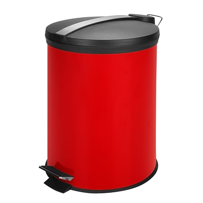 Honey Can Do colored metal trash can, red ( TRS-05250 )