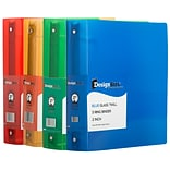 JAM Paper Standard 2 3-Ring Fashion Binder, Assorted Colors, 4/Box (82T2ASSRT)