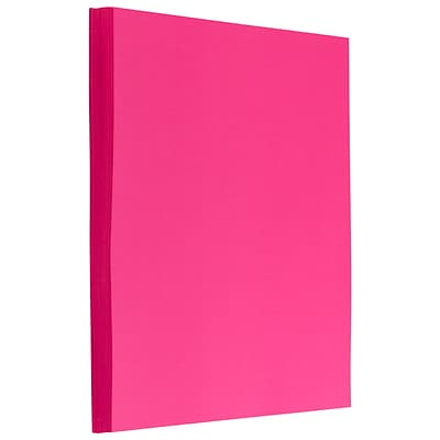 JAM PAPER Colored Paper, 24 lbs.,  8.5 x 11, Ultra Fuchsia Pink, 1 Sheets/Pack