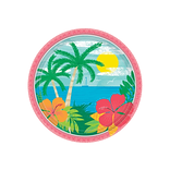 Amscan Summer Vibes Paper Plates, 9 Dia., Multi Colors, 60/Pack (751963)