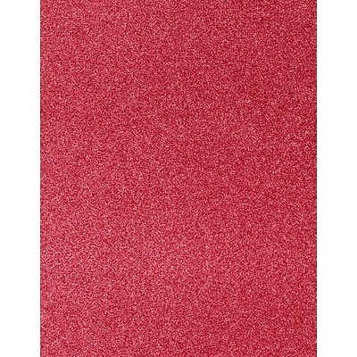 LUX 8 1/2 x 11 Cardstock 500/Pack, Holiday Red Sparkle  (81211-C-MS08500)