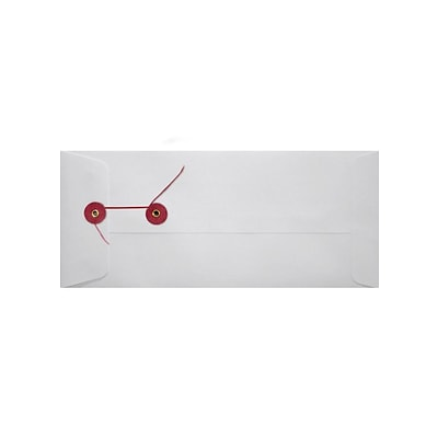 LUX #10 Button & String Envelopes (4 1/8 x 9 1/2) 250/Pack, 28lb. Gray Kraft (10BS-28GK-250)