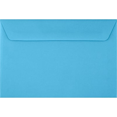 LUX 6 x 9 Booklet Envelopes 50/Pack, Bright Blue (FE-4220-18-50)