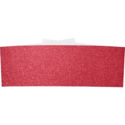LUX A7 Belly Band 50/Pack, Holiday Red Sparkle  (A7BB-MS08-50)