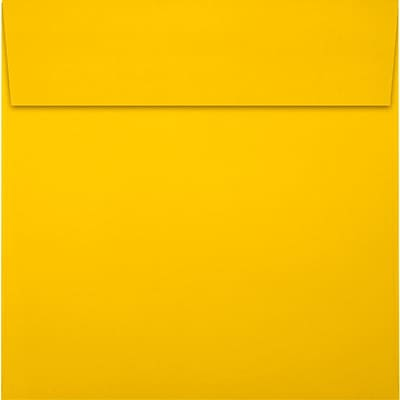 LUX 5 x 5 Square Envelopes 500/Pack, Sunflower (LUX-8505-12-500)