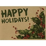LUX #17 Mini Envelopes (2 11/16 x 3 11/16) 500/Pack, Happy Holidays! (LEVC-GBH04-500)