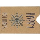 LUX Credit Card Sleeve Envelopes (2 3/8 x 3 1/2) 250/Pack, Happy Holidays (1802-GBH01-250)