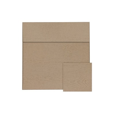 LUX 6 1/2 x 6 1/2 Square Envelopes 500/Pack, Oak Woodgrain (8535-S01-500)