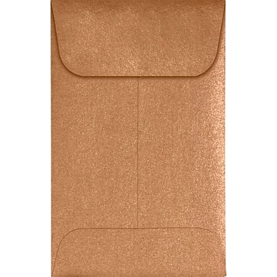 LUX #1 Coin Envelopes (2 1/4 x 3 1/2) 50/Pack, Copper Metallic (1CO-M27-50)