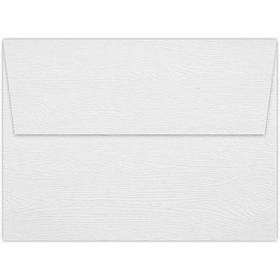 LUX A6 Invitation Envelopes (4 3/4 x 6 1/2) 50/Pack, White Birch Woodgrain (4030-S02-50)