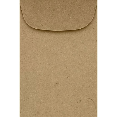 LUX #4 Coin Envelopes (3 x 4 1/2) - Grocery Bag 500/Pack, 70lb. Grocery Bag (4CO-GB-500)