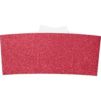 LUX 6 1/4 Belly Band 250/Pack, Holiday Red Sparkle  (614BB-MS08-250)