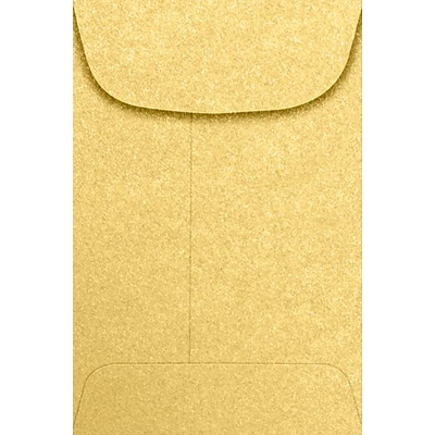 LUX #4 Coin Envelopes (3 x 4 1/2) - Gold Metallic 1000/Pack, 80lb. Gold Metallic (4CO-07-1000)