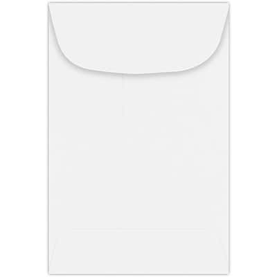 LUX #4 Coin Envelopes (3 x 4 1/2) - White Wove 250/Pack, 80lb. White Wove (4CO-28W-250)