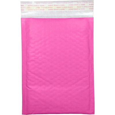 LUX #000 LUX Kraft Bubble Mailer Envelopes 500/Pack, Bright Fuchsia (LUXKNPBM000500)