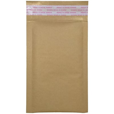 LUX #00 LUX Kraft Bubble Mailer Envelopes 50/Pack, Grocery Bag (LUX-KGBBM-00-50)