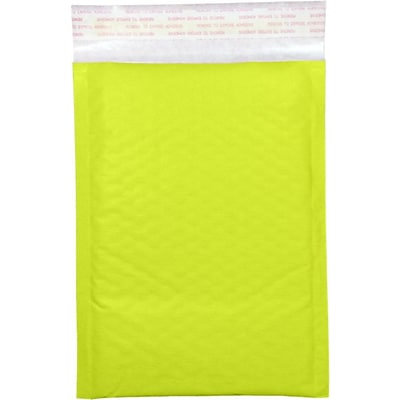 LUX #000 LUX Kraft Bubble Mailer Envelopes 1000/Pack, Electric Green (LUXKGBM0001000)