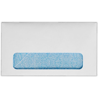 LUX #6 3/4 Window Envelopes (3 5/8 x 6 1/2) 250/Pack, 24lb. Bright White w/ Sec. Tint (634W-W-250)