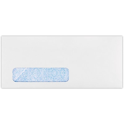 LUX #10 Window Envelopes(4 1/8 x 9 1/2) 50/Pack, 24lb. White w/ Sec Tint (WS-3145-50)