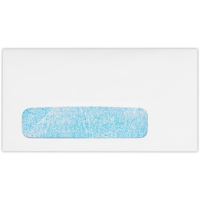LUX #7 3/4 Window Envelopes (3 7/8 x 7 1/2) 50/Pack, 24lb. Bright White w/ Sec. Tint (712W-WST-50)