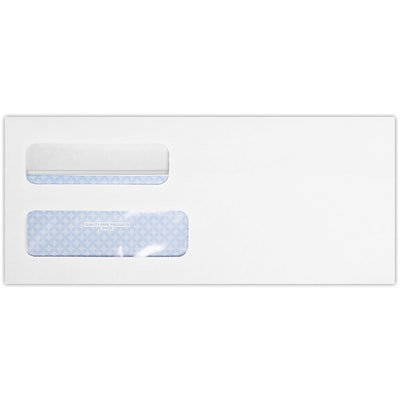 LUX #10 Double Window Envelope (4 1/8 x 9 1/2) 250/Pack, White Wove w/ Redi-Seal (24559-QP-250)