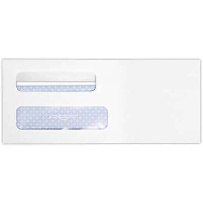 LUX #8 5/8 Double Window Envelope (3 5/8 x 8 5/8) 50/Pack, White Wove w/ Redi-Seal (24539-50)