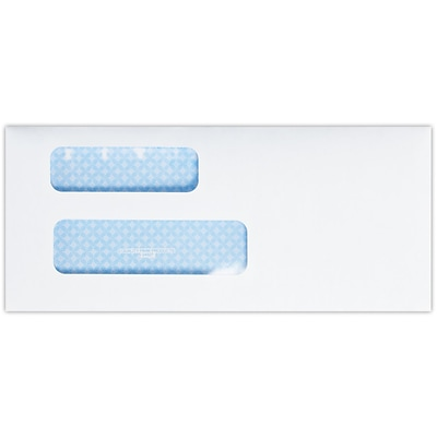 LUX #9 Double Window Envelopes (8 13/16 x 3 7/8) 500/Pack, 24lb. Bright White w/ Sec. Tint (9DW-W-500)