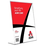 Adir Plexi Acrylic 8.5 x 11 Single Slant Back Design Sign Holder - Clear - Pack of 12 (639-8511-12