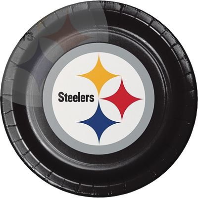NFL Pittsburgh Steelers Paper Plates 8 pk (429525)